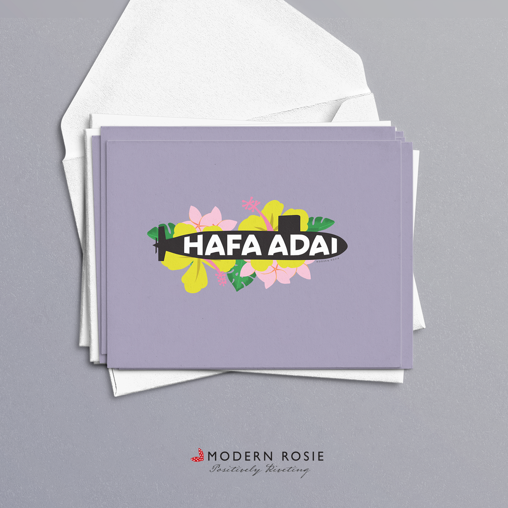 Hafa Adai - Guam Submarine 4x5 Folded Card Pack