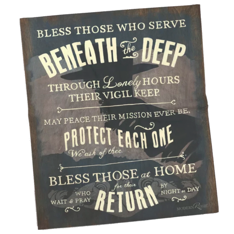 Submariners' Hymn Super Soft Fleece Blanket
