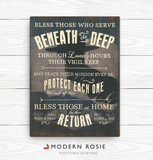 The Submariners Hymn - Art on Canvas from Modern Rosie