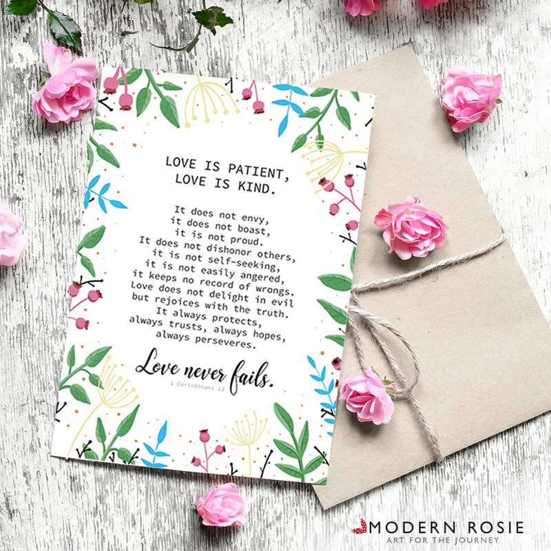 Love is Patient, Love is Kind - 5x7 Folded Card