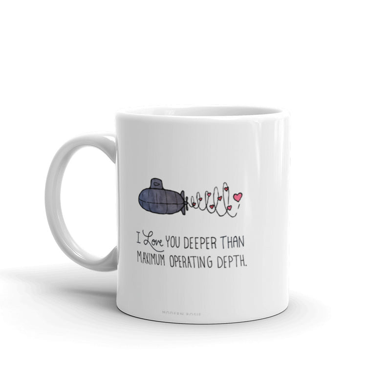 I Love you Deeper - Submarine Mug