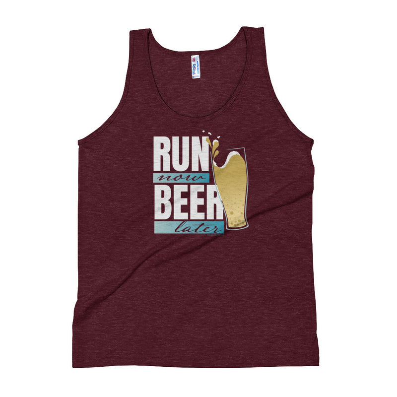 Run Now Beer Later - Tank Top