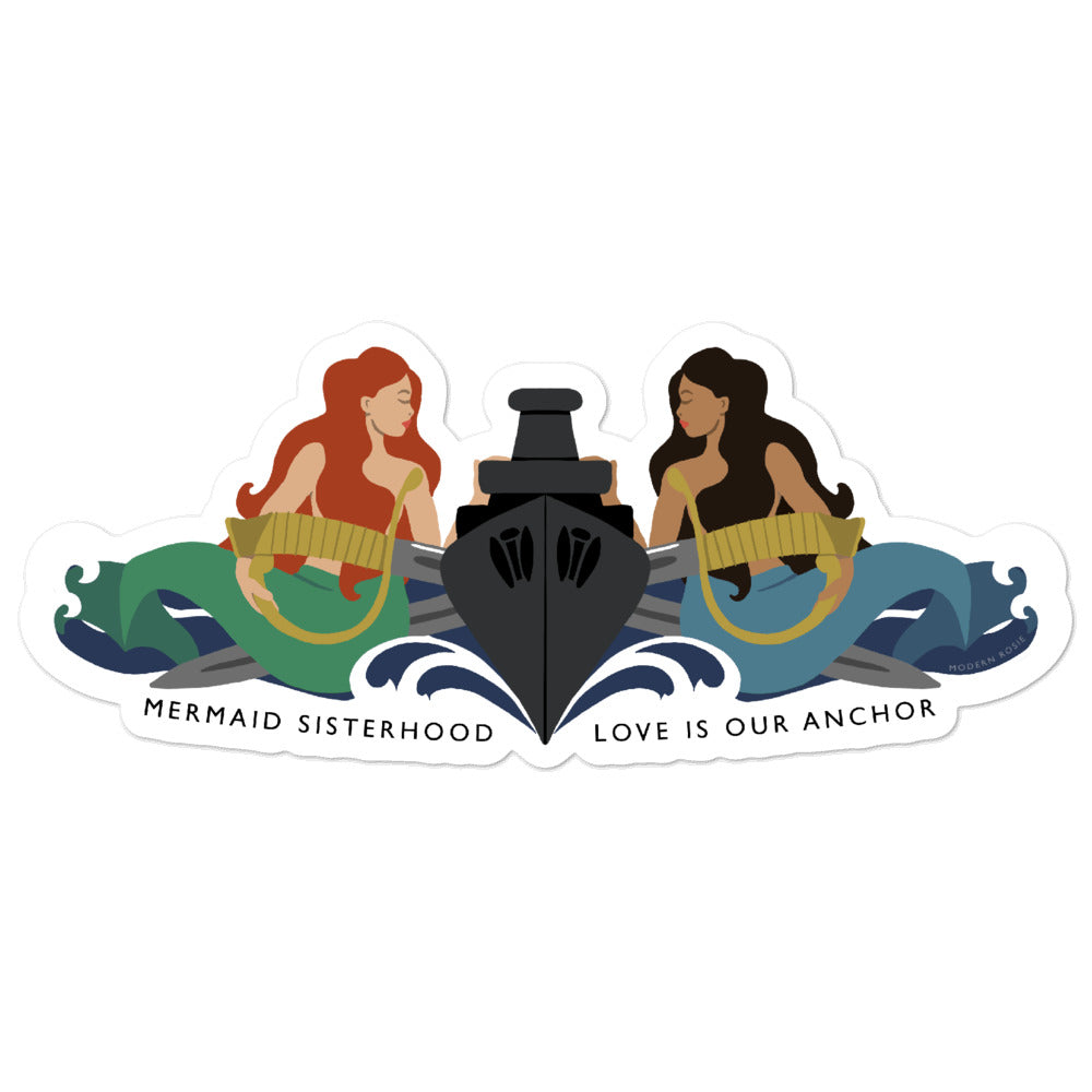 Surface Mermaid Sisterhood Insignia - stickers