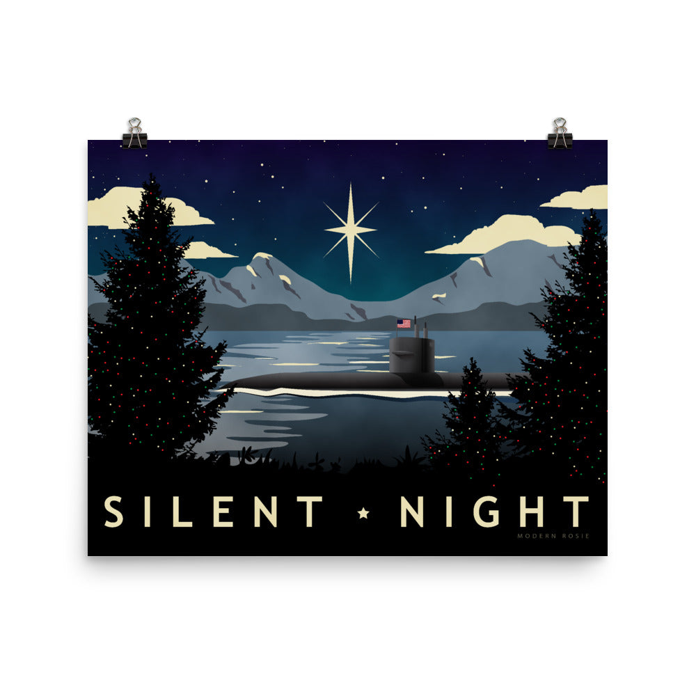 Silent Night - Submarine Holiday Art Print