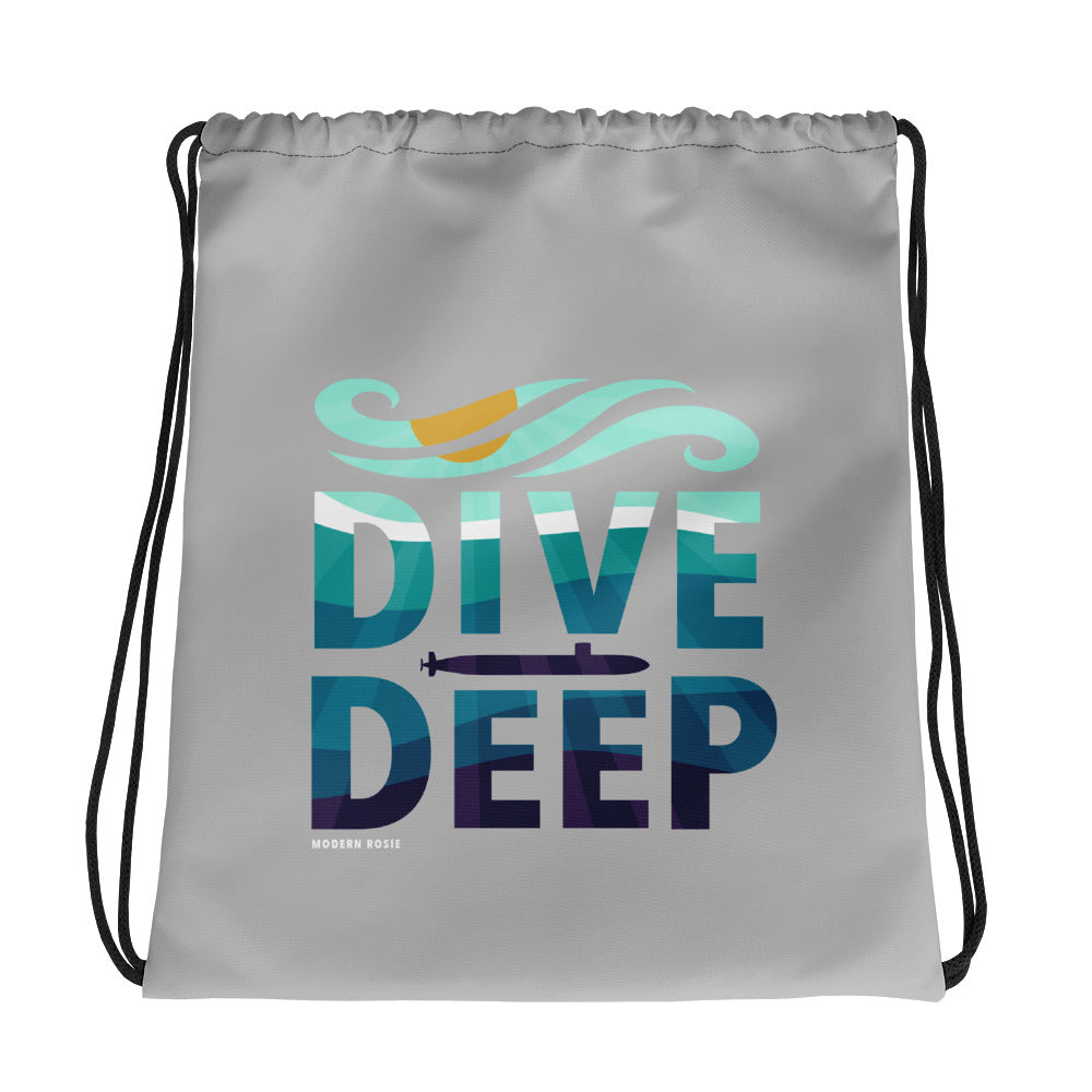 Dive Deep Drawstring bag