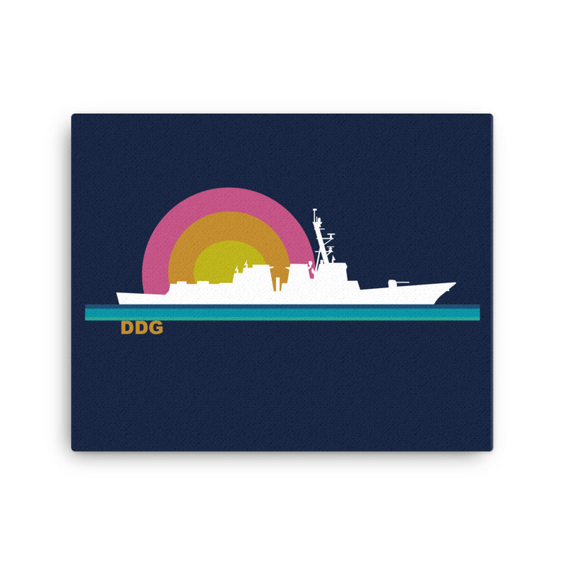 Destroyer Sunset - Art on Canvas