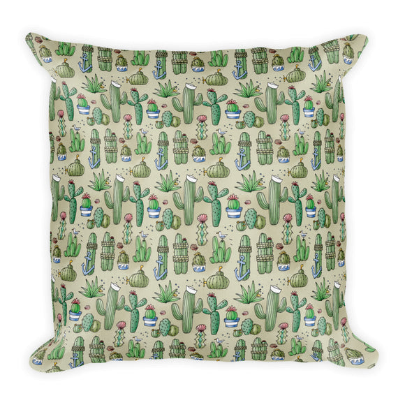 Salty Cacti Throw Pillow