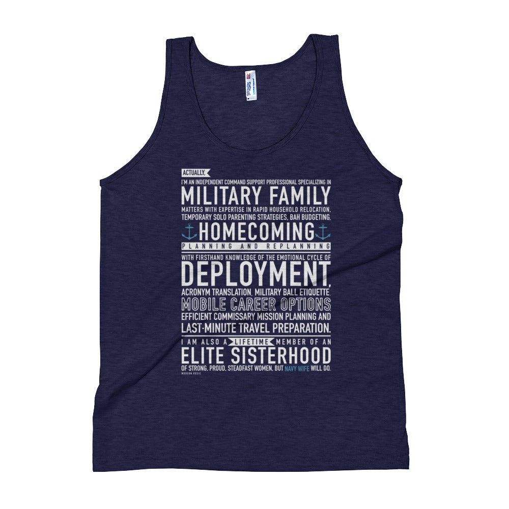 Navy Wife Will Do Tank Top