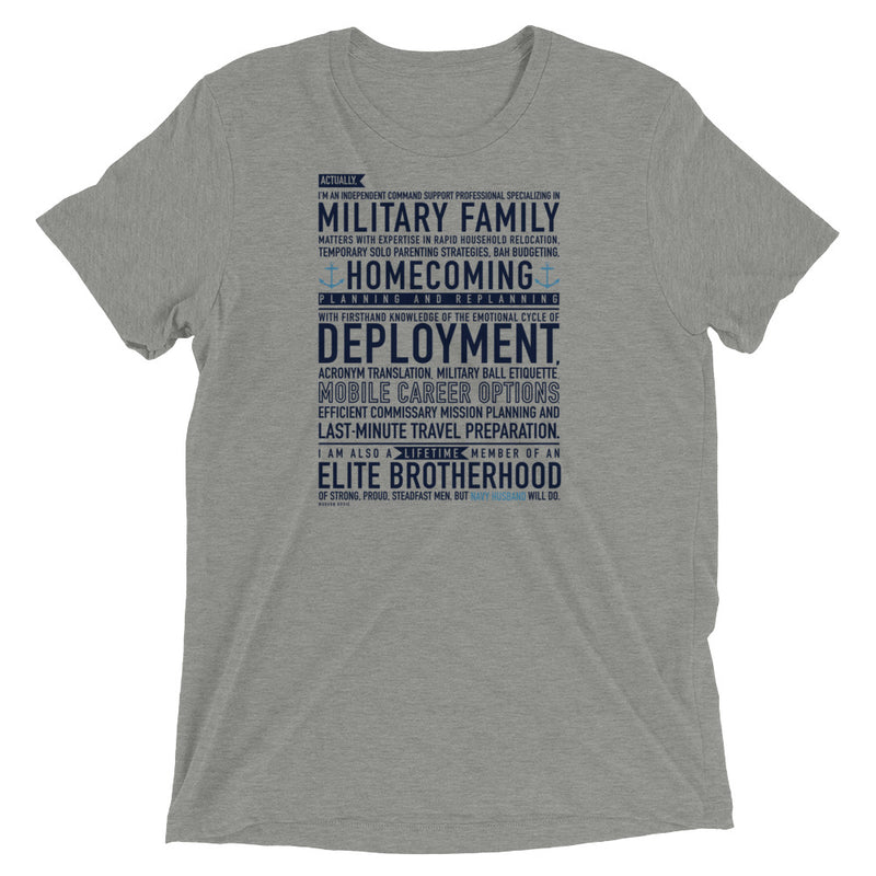 Navy Husband Will Do - Tee