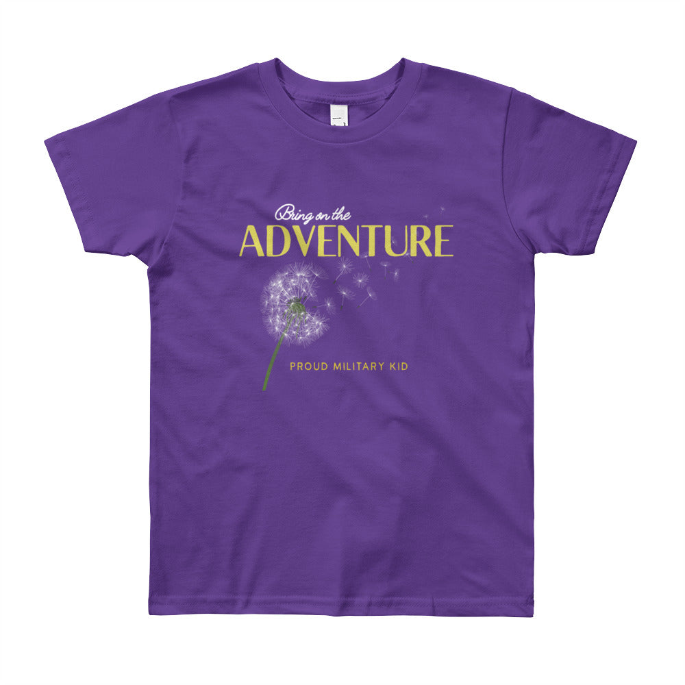 "Proud Military Kid ""Adventure"" Tee - big kids"