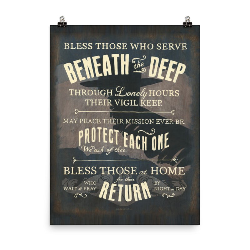 Submariners' Hymn - Art Print