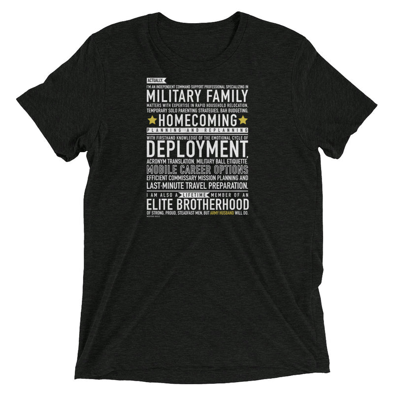 "The ""Army Husband Will Do"" Tee"