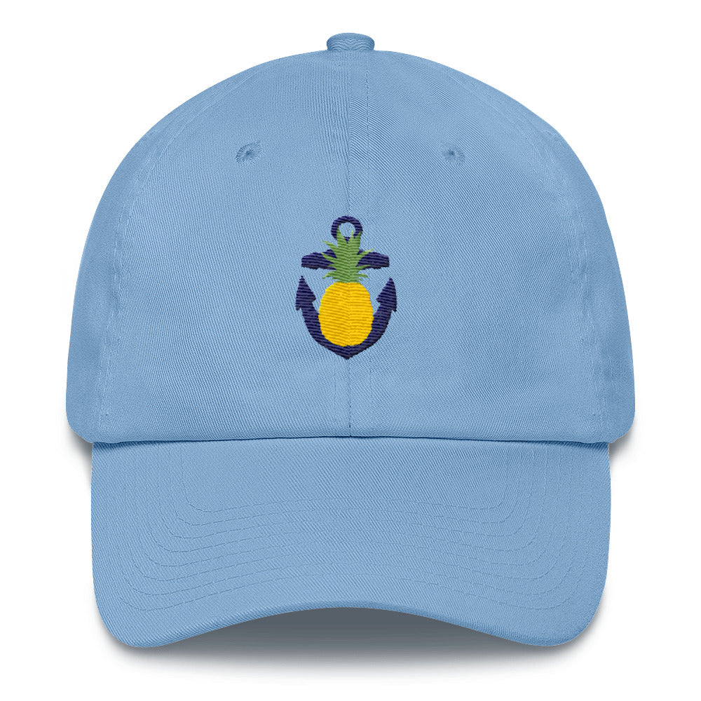 The Pineapple Anchor Hat - Classic Ball Cap with Embroidered Design