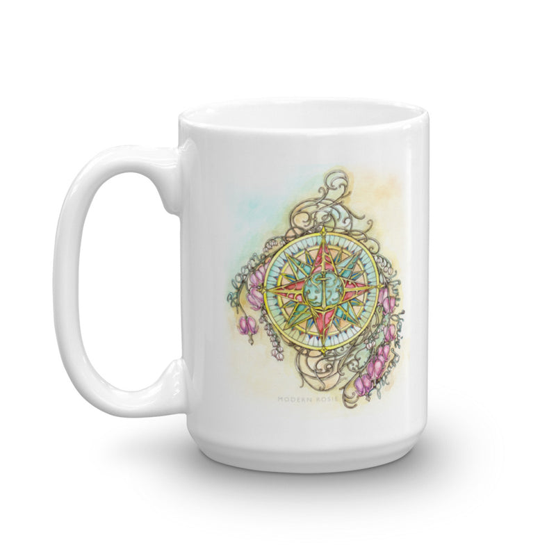 Floral Compass : Bloom Where You Are Planted - Mug