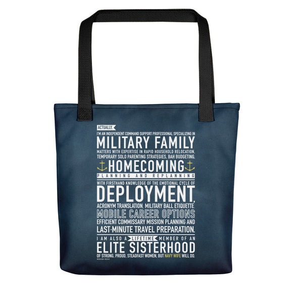 "The ""Navy Wife Will Do"" Tote bag from Modern Rosie"