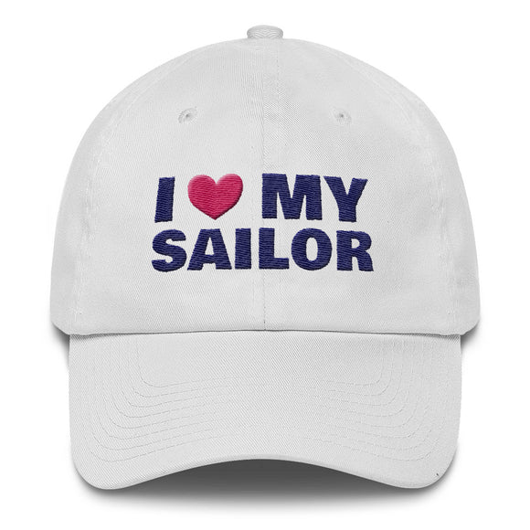 I Love My Sailor - classic embroidered ball cap