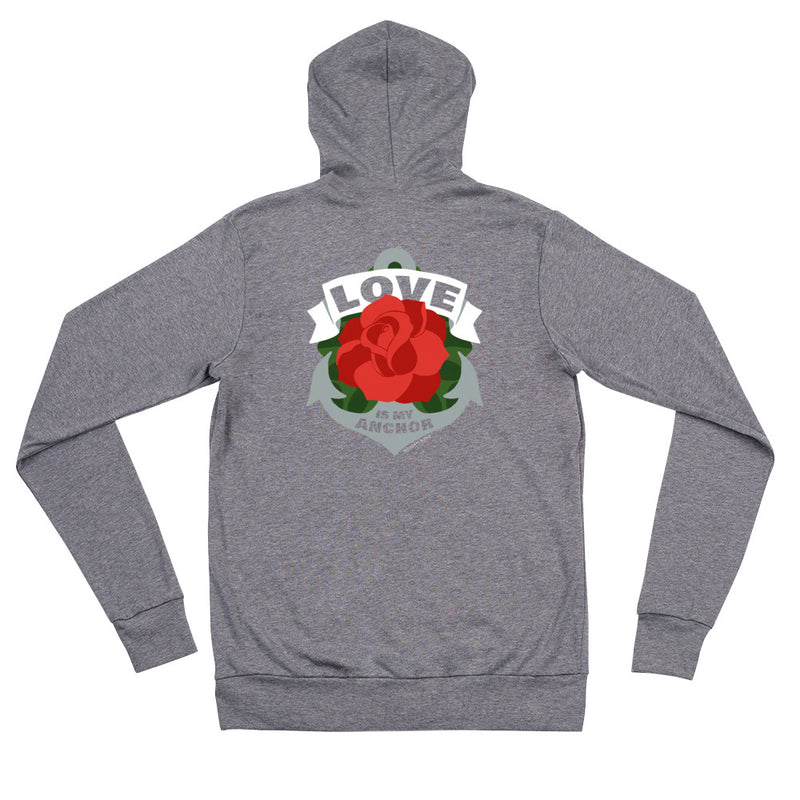 The Love is My Anchor Zip hoodie