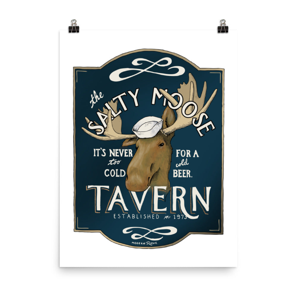 The Salty Moose Tavern - Art Print