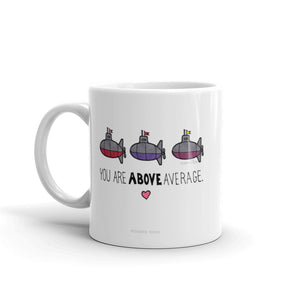 You Are Above Average - Submarine Mug from Modern Rosie