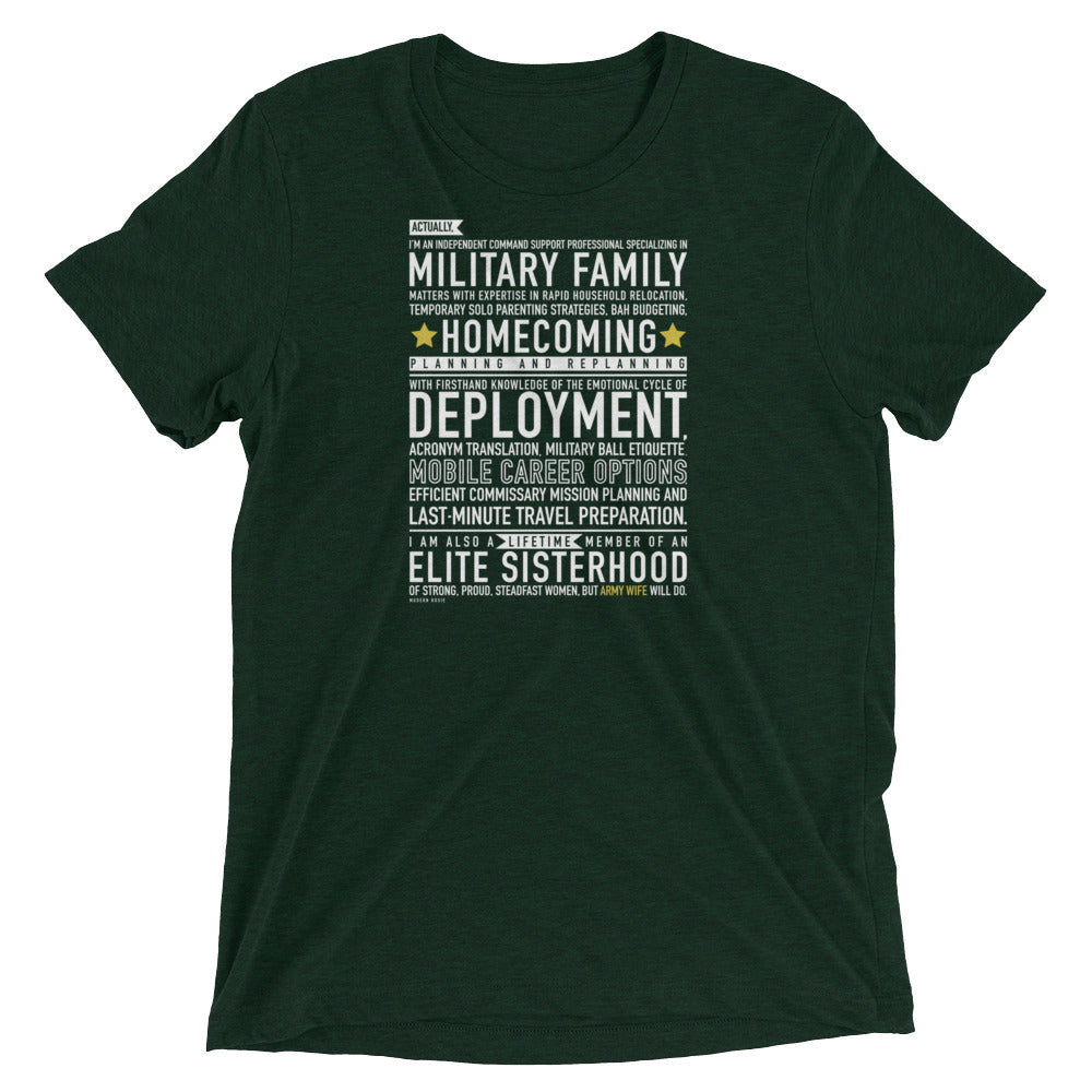 The Army Wife Will Do Tee