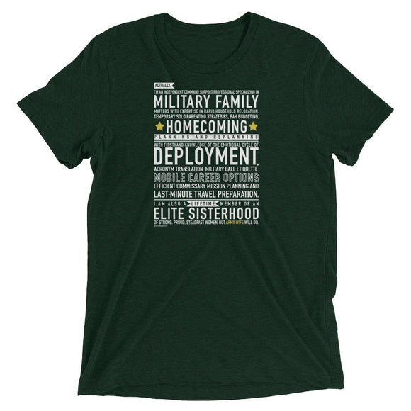 The Army Wife Will Do Tee from Modern Rosie