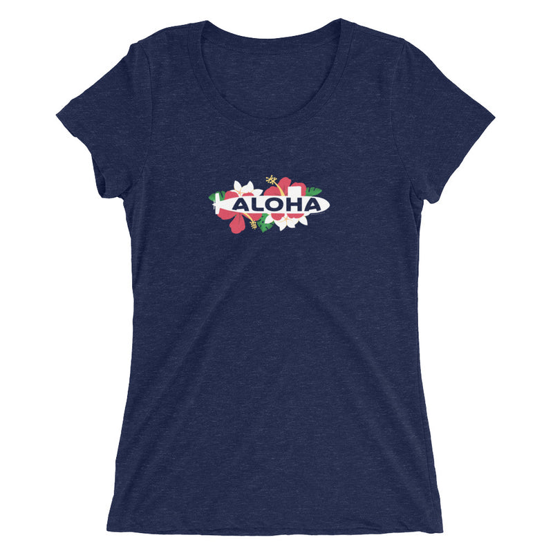 The Floral Aloha Sub (color version!) Tee - Ladies cut tee