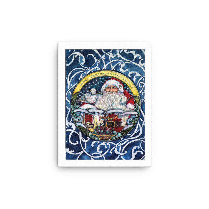 Seaworthy Santa - Art on Canvas