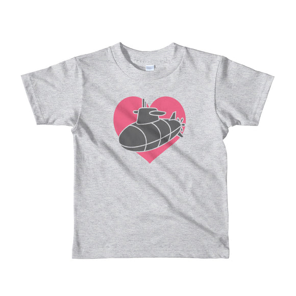 "The ""Sub Heart"" Kids Tee - little kids from Modern Rosie"