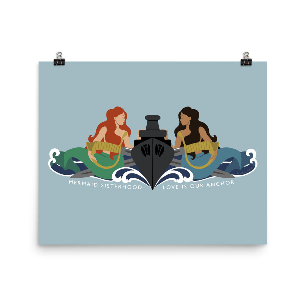 Surface Mermaid Sisterhood Insignia - Art Print