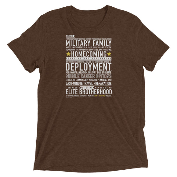 "The ""Army Husband Will Do"" Tee from Modern Rosie"