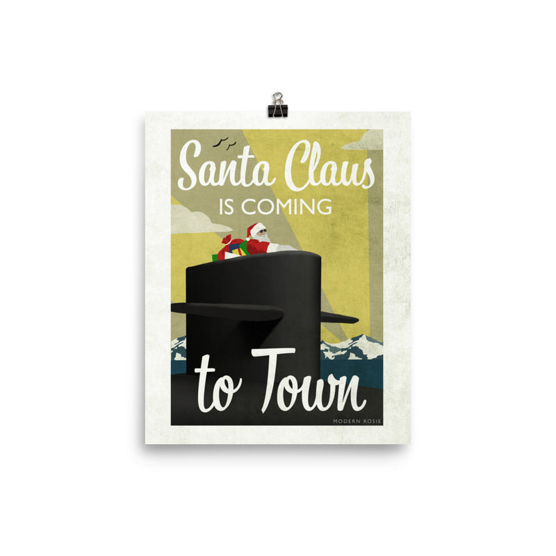Submarine Santa - Art Print