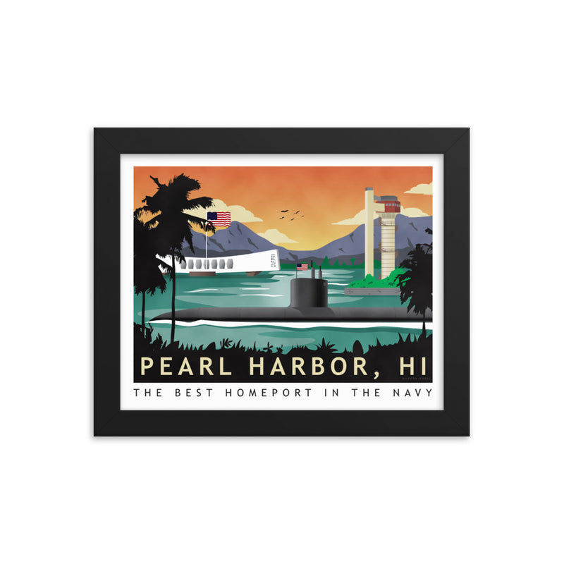 Pearl Harbor Submarine Homeport - Framed Print