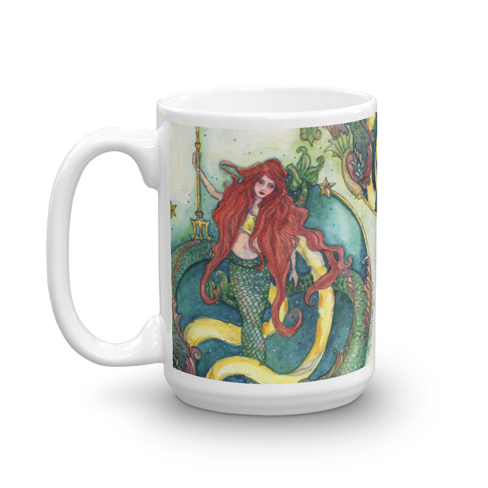 Mermaid and Dolphins Mug