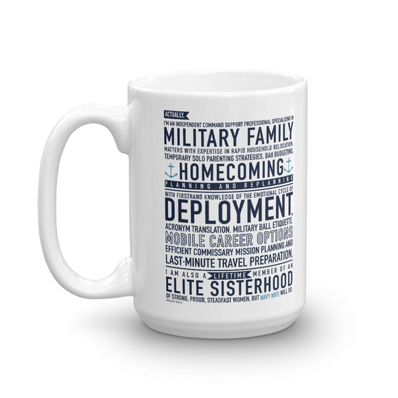 Navy Wife Will Do - Mug from Modern Rosie