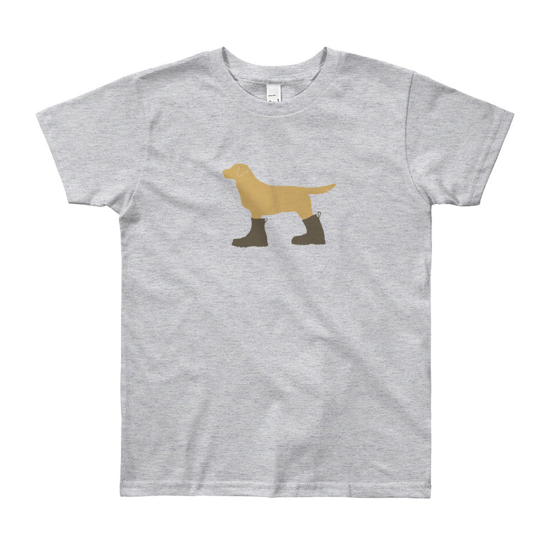 "The ""Dog in Combat Boots"" Tee - big kids"