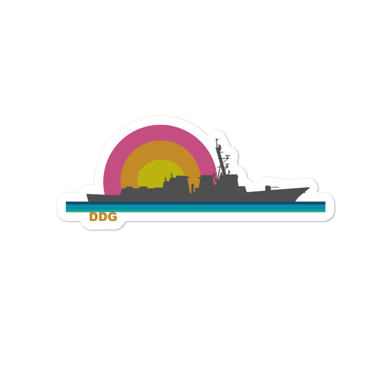 Destroyer Sunset - sticker