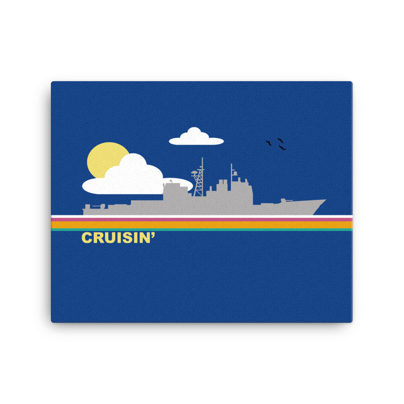 Cruisin' - (cruiser) art on Canvas