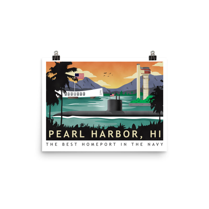 Pearl Harbor - Submarine Homeport - Art Print