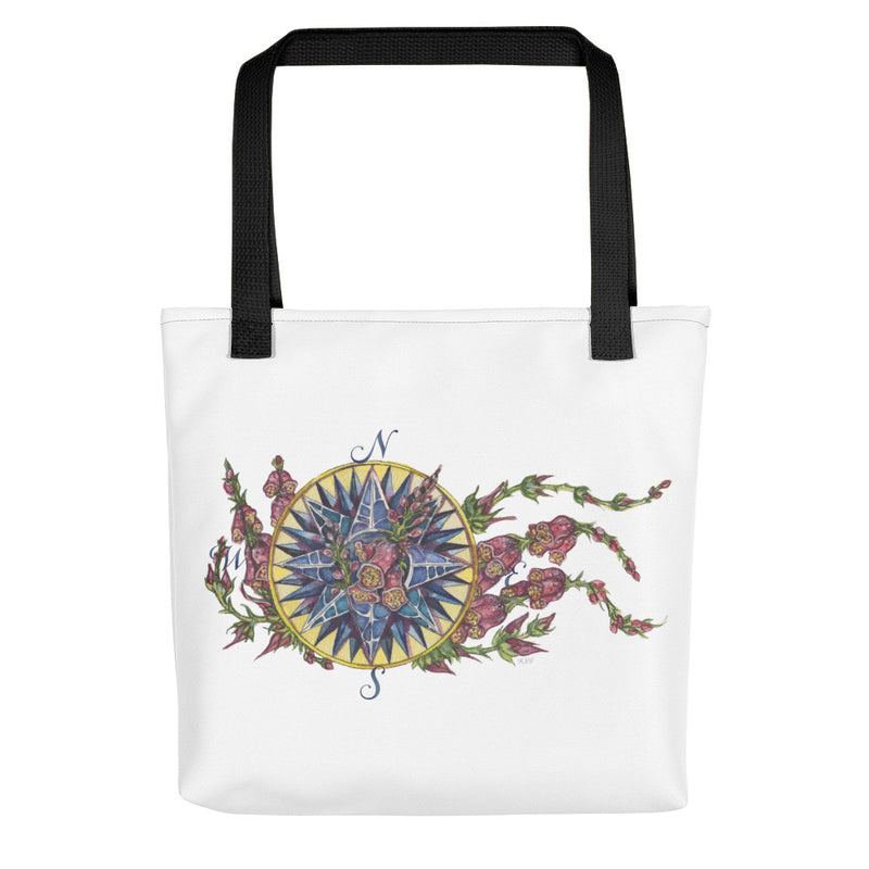 Blooming Compass: Foxglove of the Mid-Atlantic - Tote bag