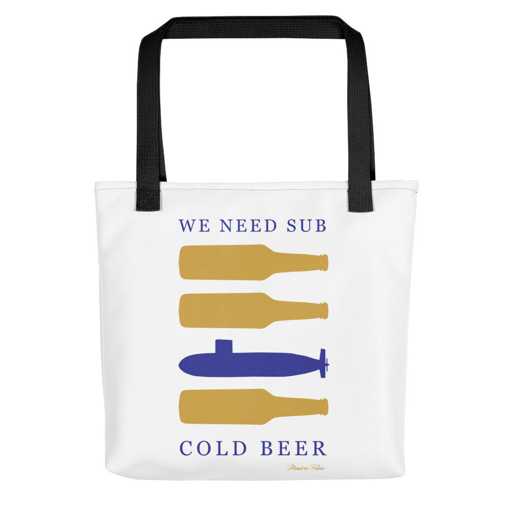 Sub Cold Beer Tote bag
