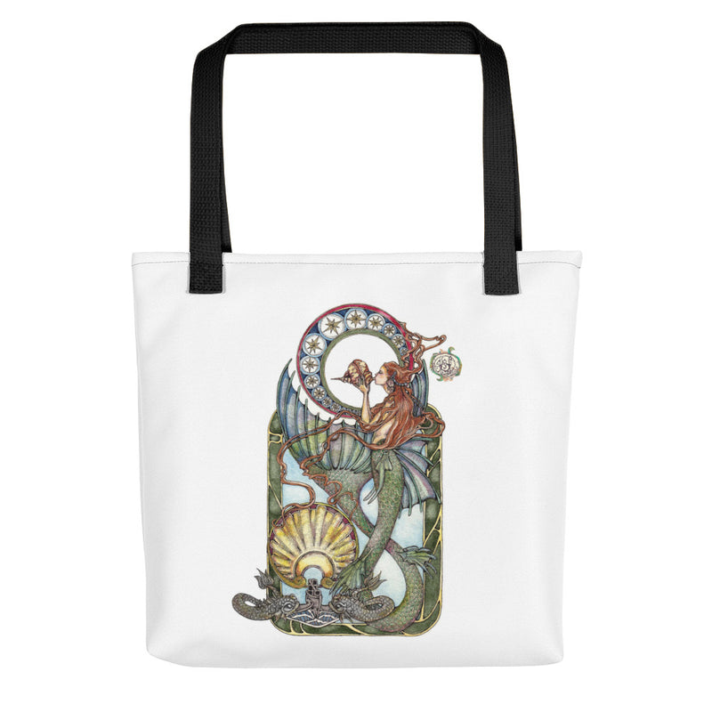 Maid of the Deep (Silver Dolphins) Tote bag