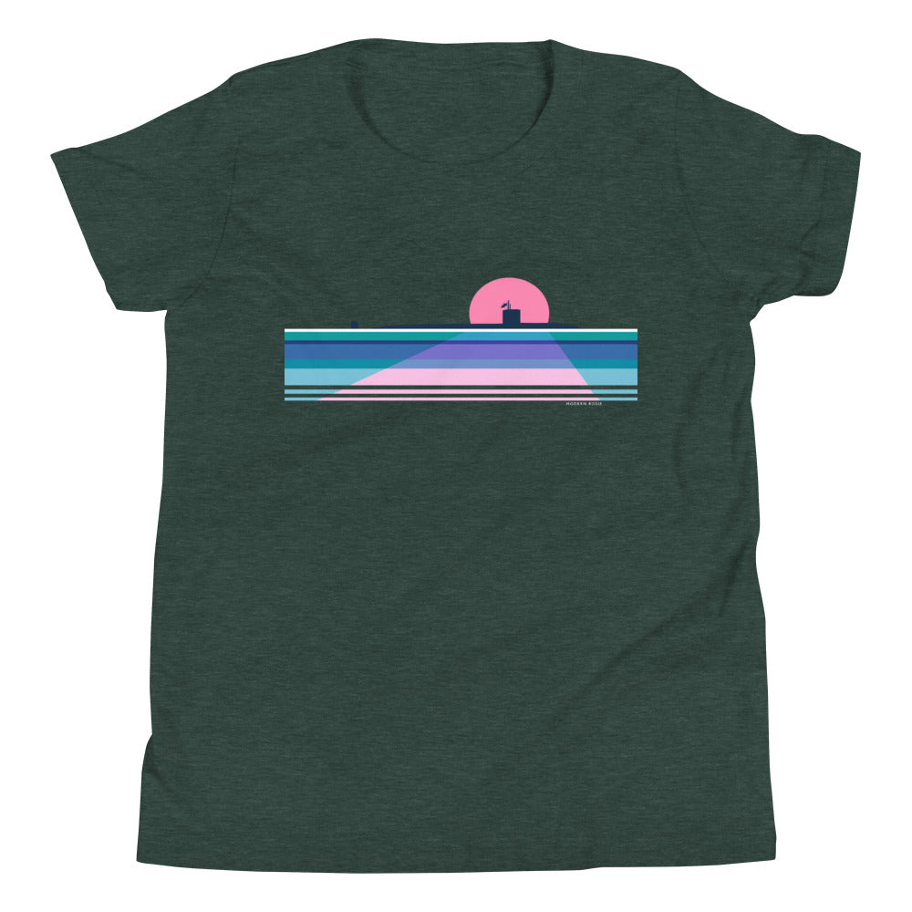 Moonlit Submarine - Youth Short Sleeve T-Shirt