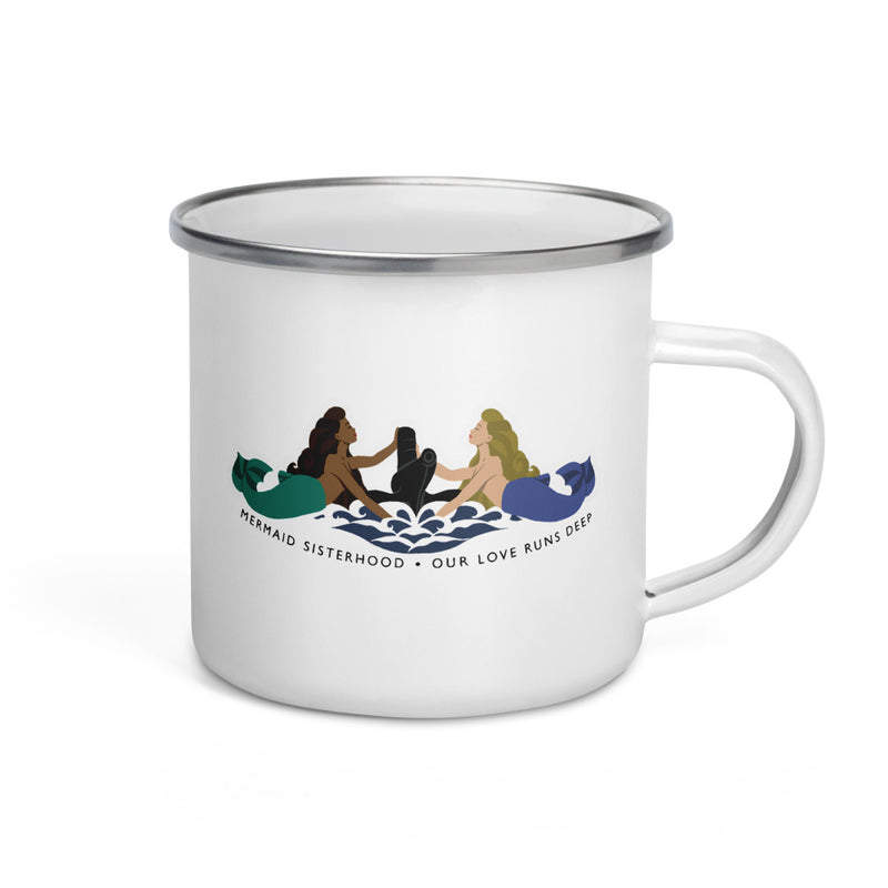 Submarine Mermaid Sisterhood Insignia - Enamel Camp Mug