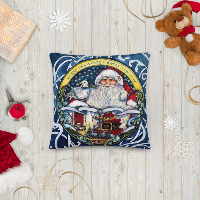 Seaworthy Santa - Throw Pillow
