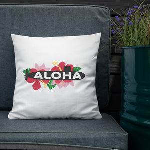 Floral Aloha Sub (color version!) Throw Pillow