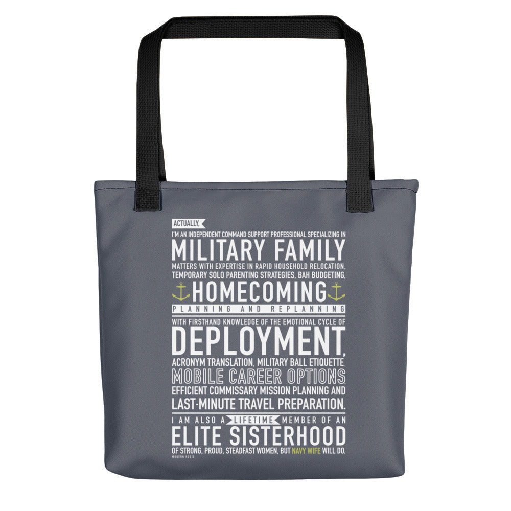 Navy Wife Will Do - Tote bag (Gray)