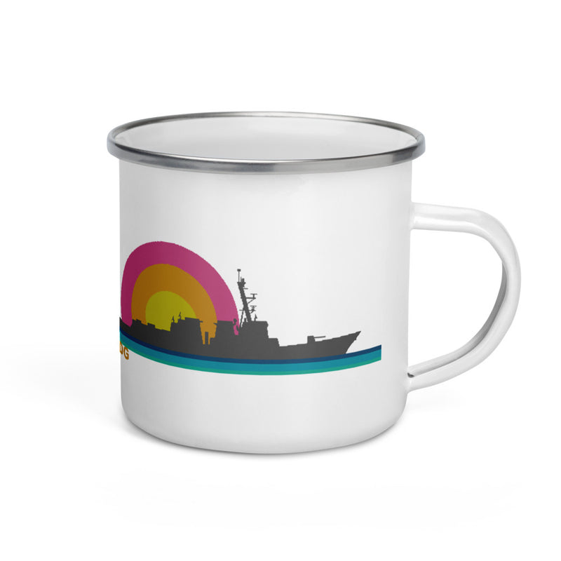 destroyer Sunset - Enamel Camp Mug