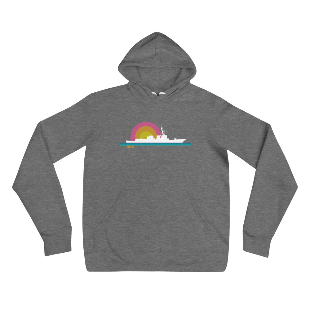 Destroyer Sunset - cozy hoodie