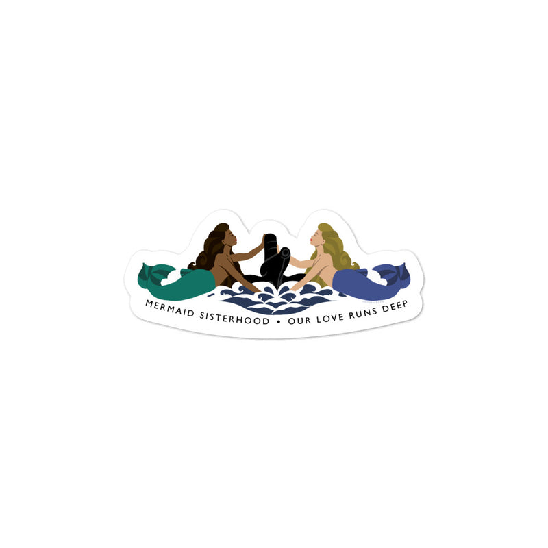 Submarine Mermaid Sisterhood Insignia - sticker