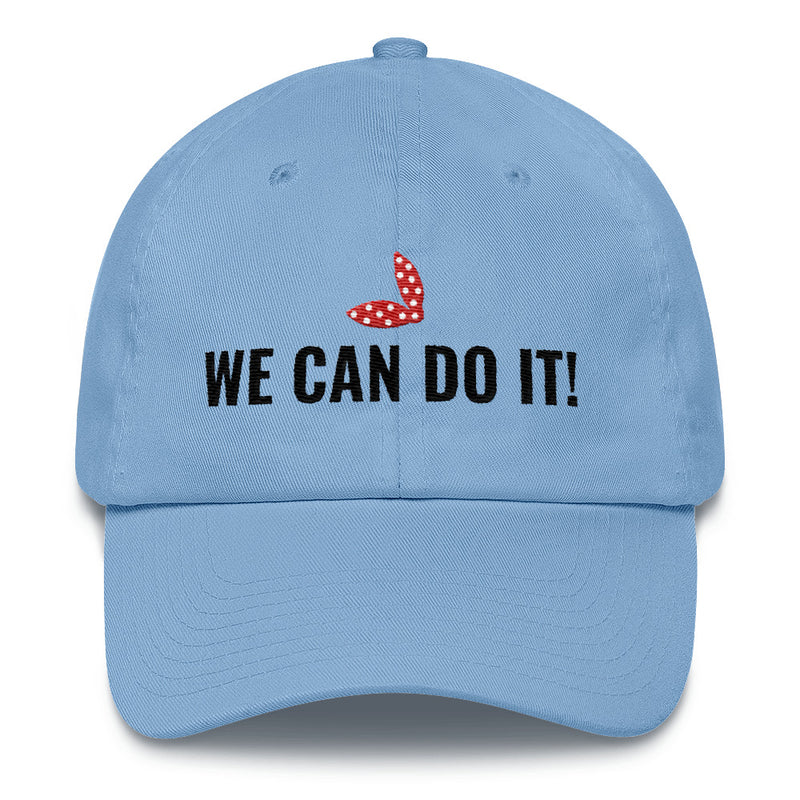 The We Can Do It! Hat - Classic Embroidered hat Inspired by Rosie the Riveter